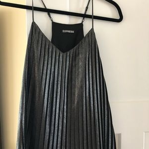 Express black metallic fancy tank size S/M